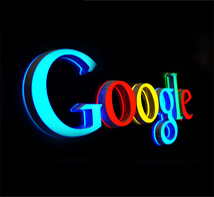 Google Mini glowing words