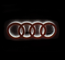 Audi Mini glowing words