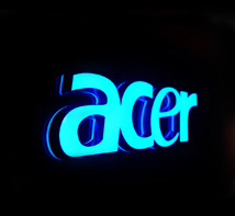 acer Mini glowing words
